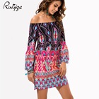 Save 9.16 on Fashion Bohemian Summer Dress Print Beach Vintage Sexy Female Vestidos De Festa Casual Ladies Clothing Women Robe Party Dresses