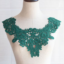 1PCS Green Flower Necklace Lace Collar Embroidery Trimming For Sewing Fabric Trim DIY Neckline Applique