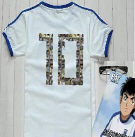 Asia size ! Camiseta Shirts oliver atom equipe de Japan france, Captain Tsubasa Jerseys,ATOM football cotton white Men's clothes