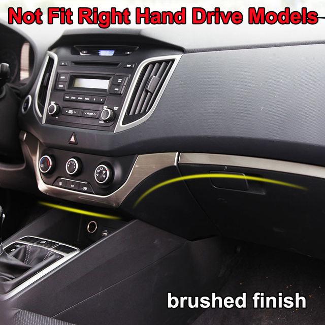 For Hyundai Creta IX25 2015 2016 2017 2018 Chrome Interior Door Handle Cup Holder Trim Cover Decoration Accessories Car Styling