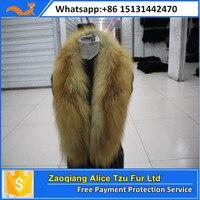Alice Fur Woman Noble Detachable Real Long Red Fox Fur Collar