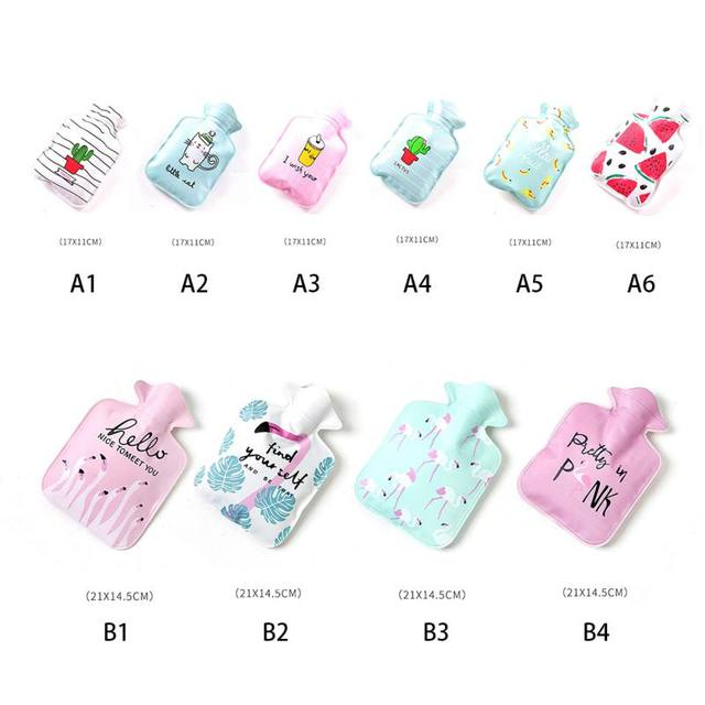 Winter Mini Warm Hot Water Bag Cartoon Pattern Hot Water Bottles Lady Kids Gifts Physiological Period Warm Aceessories