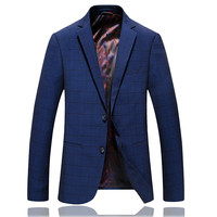 2018 spring new arrival stripe Causal Blazer Men Suits Slim Fit Brand Clothing coat Men's woolen business blazers man