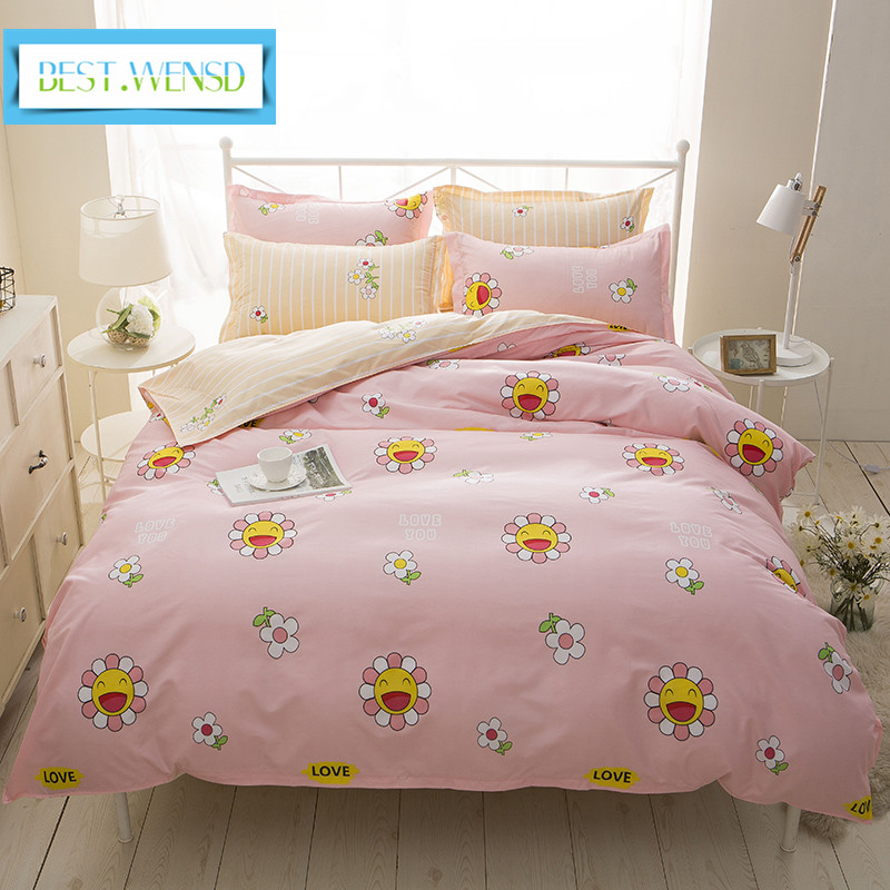 Best Wensd Whole Soft Comfortable Sunflower Bedding Set Queen Size Bed Sheets S Linen Kids Full Single