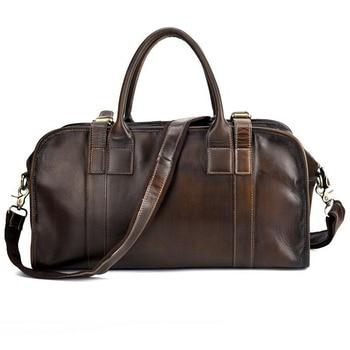 Genuine Leather Men Bag High Quality Vintage Crossbody Totes Bag Business laptop bag Men Shoulder Bag Handbags