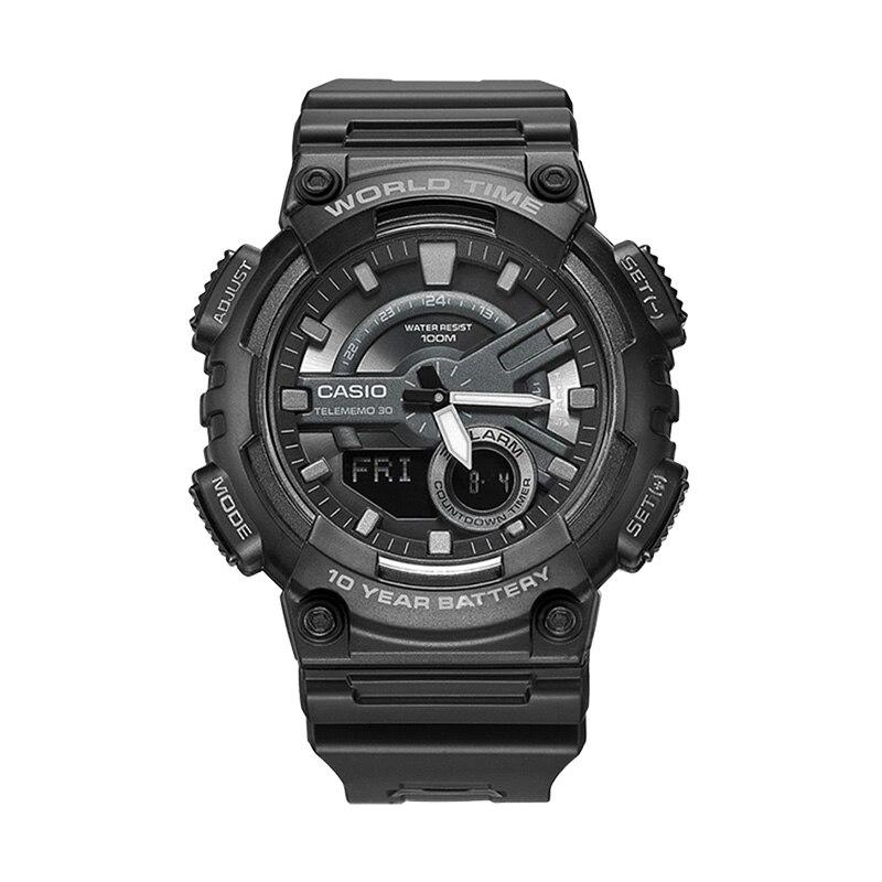 Casio Watch Dual-Display Electronic Multi-Function Sports-Series Men's Fashion AEQ-110W-1B