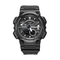 Casio watch sports series Fashion dual display multi-function electronic men's watch AEQ-110W-1B