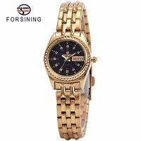 FORSINGING Watches For Women Top Luxury Brand Ladies Quartz Wrist Watches Crystal Decorated Calendar Date Geneva