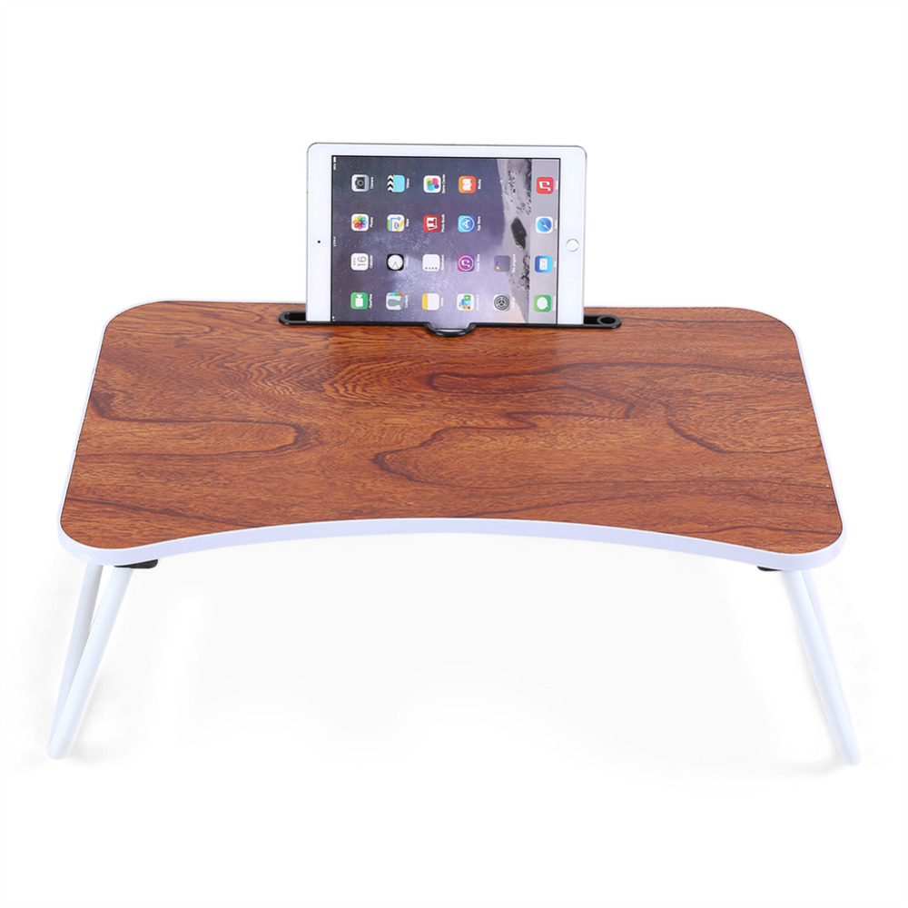 Folding Bed Desk Portable Laptop Standing Table Breakfast Tray Computer Desks Notebook For Dormitory Office Deskable