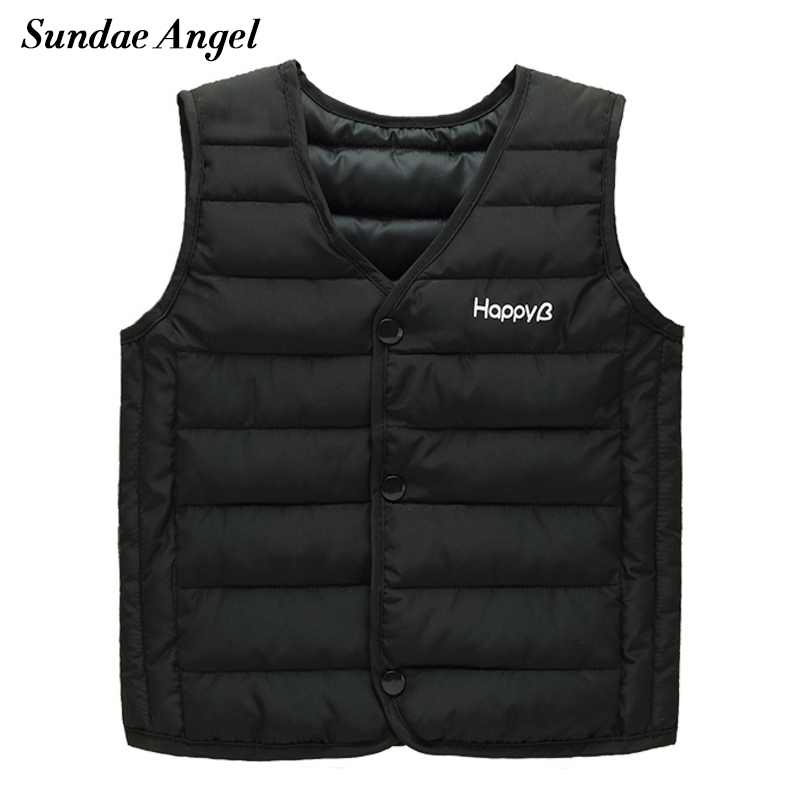 Sundae Angel Vests for girls V-Neck Sleeveless Polyester Waistcoats Children Coats for Kids Baby boys Outerwear Clothes 1-7 Year