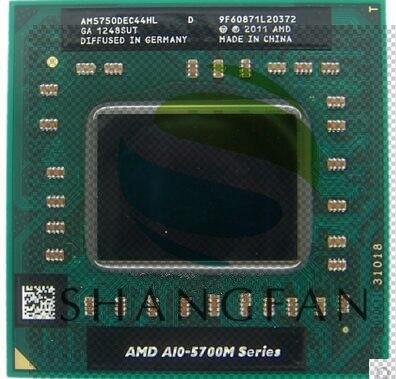 AMD Laptop A10 5700M Serie A10 5750M A10-5750m AM5750DEC44HL Socket FS1 CPU 4M Cache/2.5 GHz /Quad-Core Processor GM45/PM45