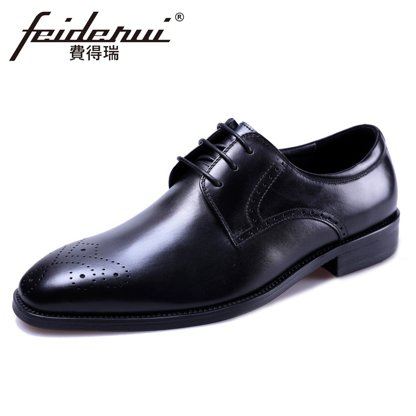 Summer Style Formal Dress Handmade Mens Derby Brogue Footwear Genuine Leather Round Toe Breathable Man Outdoor Shoes YMX513Summer Style Formal Dress Handmade Mens Derby Brogue Footwear Genuine Leather Round Toe Breathable Man Outdoor Shoes YMX513