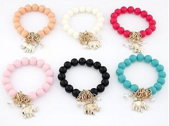 Colorful Round Fashion Elephant Bracelets