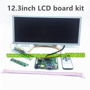 12.3 cal 1280*480 LVDS wyświetlacz urządzenia przemysłowe VS-TY2662-V1 LCD monitora HDMI kontroler pokładzie VGA 2AV panel z ekranem
