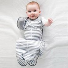 55b61cbaa3ba 100% Coton Nouveau-Né Infantile Bébé Mince Sommeil Sac De Couchage Mod Pour  la literie D été Bébé Glissière Swaddle Rayé Sleepsa.