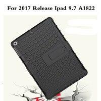 لتفاح ipad 9.7 2017 حالة مكافحة الغبار A1822 الأزياء الفاخرة pc tpu الهجين كوكه حامل غطاء الحالات لباد 9.7 '2017 الإفراج