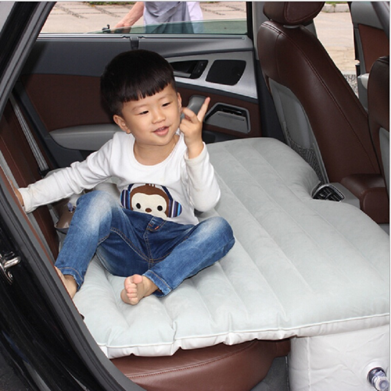 car accessory bed seat cover for back seat car Travel inflatable air mattress bed camping cushion flocking sofa pillowcase classic style wave pattern car comfy back cushion cover