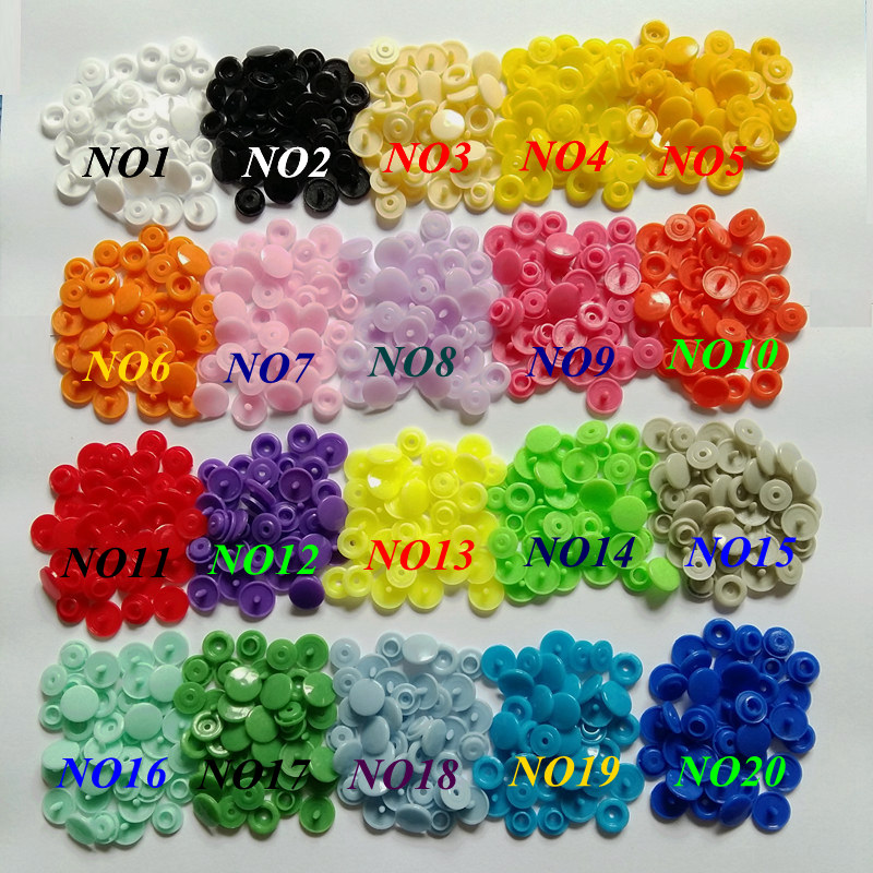 12MM Round Plastic snaps Buttons mixed 20 colors 150 sets T5 baby clothes Diaper Buttons including 1pcs Tool Fastener snap plier in Buttons from Home Garden
