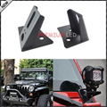 2pcs Single Lightbar A-pillar Mounting Brackets Holders For Jeep Wrangler 07-16 JK