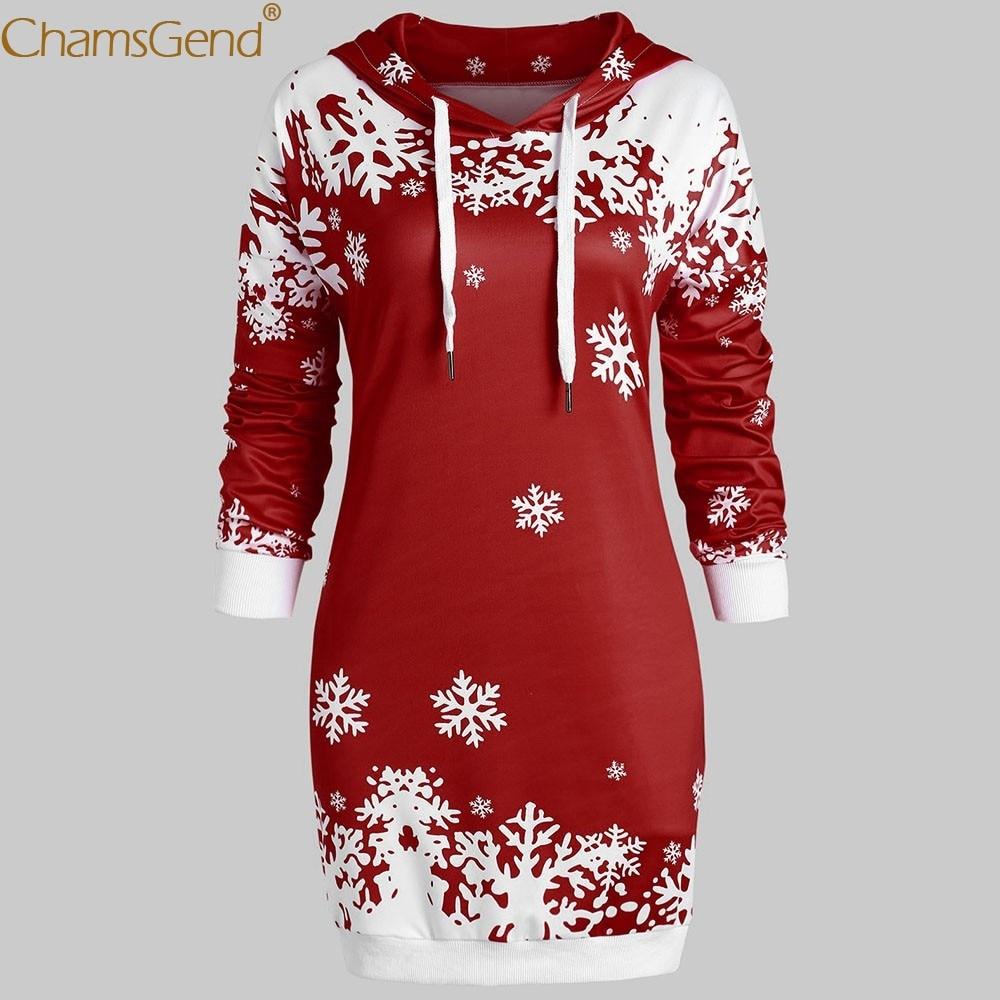 ニュー · メリークリスマス女性シャツスノーフレークプリントスエットシャツブラウスカジュアルプリント長袖 Nov8 トップス