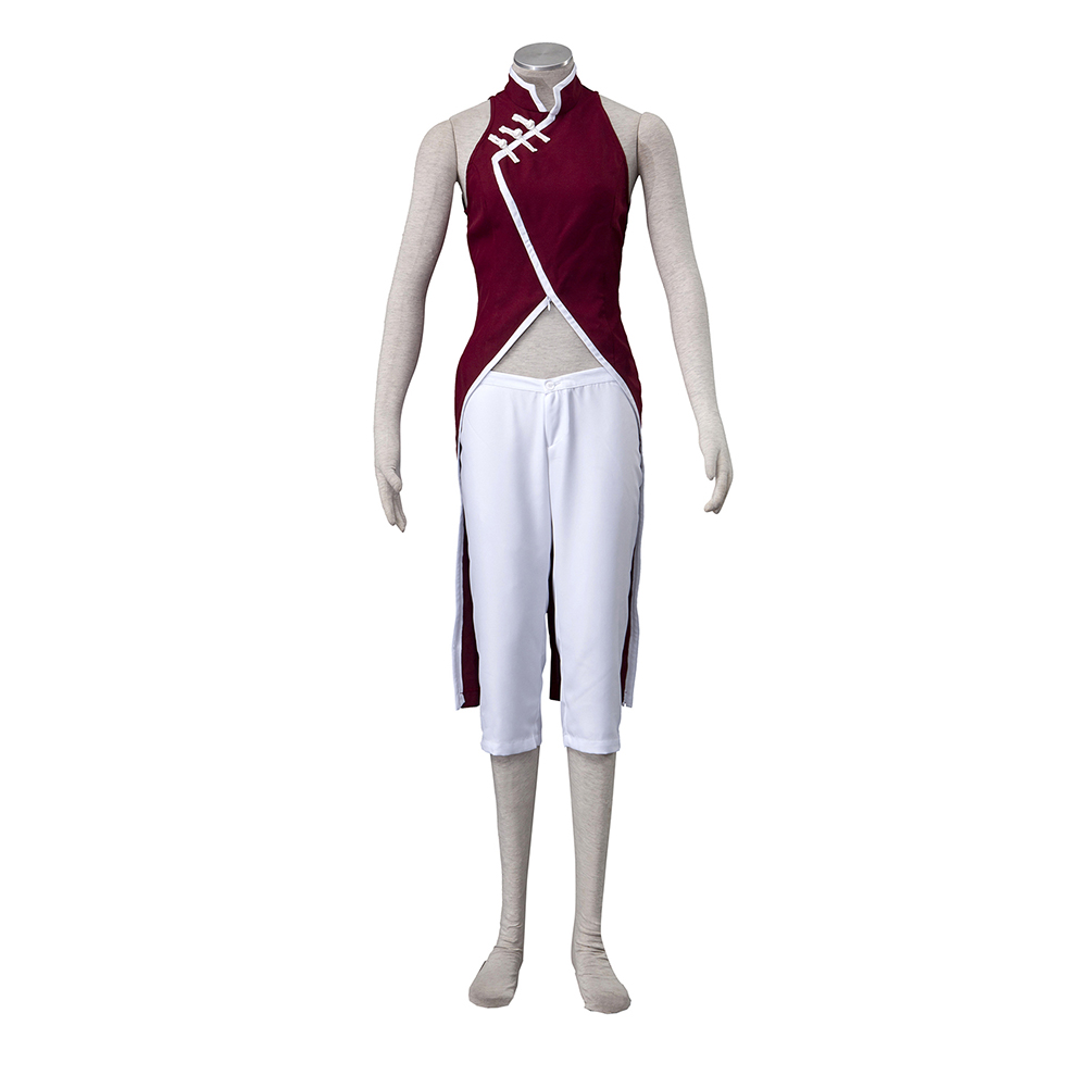 все цены на brdwn Naruto Boruto women's Uchiha Sakura Cosplay Costume Ninja Uniform cheongsam suit(top+pants)