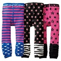 Calças de algodão Meninas Do Bebê Da Menina Calças Justas leg warmer Crianças Tarja roupas Calças Cuecas Do Bebê 1 2 3 4 5 6 anos