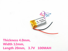 A product factory direct 3.7V lithium polymer battery built-in rechargeable battery 401220 100mah 401221 Bluetooth Headset