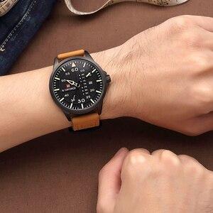Image 5 - Naviforce marca de luxo dos homens do exército militar relógios quartzo data relógio homem pulseira couro esportes relógio de pulso relogio masculino