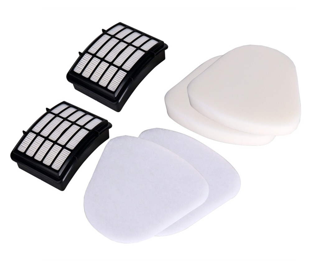 2*Felt Filter+2* Foam+2*Dust HEPA Filter for Shark Navigator Lift-Away Nv350 Nv351 Nv352 Nv355 Nv357 Vacuum Cleaner Replacement foam felt filter kit for shark rotator powered lift away xl capacity nv755 uv795 vacuum cleaner replacement