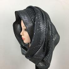 ZOGAA Muslim female inlaid bright embroidered rope scarf decorative Dot Long Soft Scarf Fashion Silk