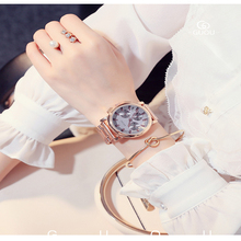 GUOU new vogue Ladies's watches time clock Wrist watches metal watch scale hour Girls Watch saat relogio feminino reloj mujer