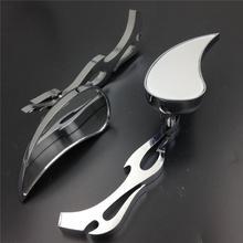 For Motorcycle Honda CBR600 RR 900RR 929RR 954 1000RR Alloy TEARDROP FLAME Custom Mirror