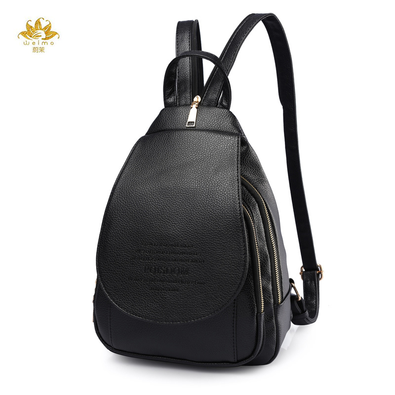 Fashion Women Backpack Leather Backpacks Softback Bags Brand Name Bag Preppy Style Bag Casual Backpacks Teenagers