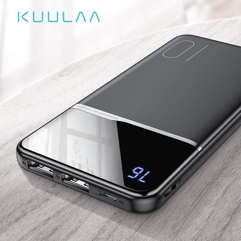 Banco Do Poder 10000 mAh Portátil PowerBank Carregamento KUULAA PoverBank 10000 mAh USB Carregador de Bateria Externa Para Xiao mi mi 9 8 iPhone