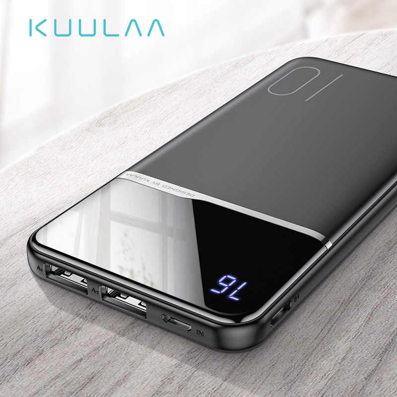 KUULAA قوة البنك 10000 mAh المحمولة تجدد PowerBank شحن 10000 mAh USB PoverBank بطارية خارجية شاحن هواتف xiaomi mi 9 8 فون