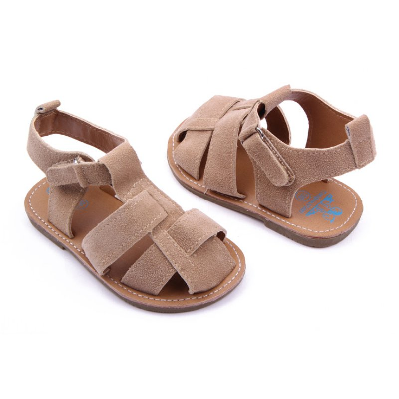 Rubber Soft Baby Shoes Boys Girls Summer Anti-Slip Leather Sandals 0-12M