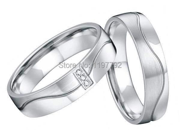 2014 sur mesure meilleur blanc argent couleur santé titane mode bijoux anneaux de mariage pour couples femmes et hommes