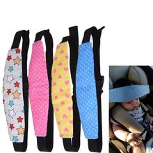 Car Safety Seat Sleep Positioner Infants Adjustable Baby Child Head Support Pillow Pram Stroller Fastening Belt