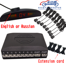 cheshitong Car Parking Sensor Detector Universal LCD  Assistance Reverse Backup Radar Monitor System 6 Sensors