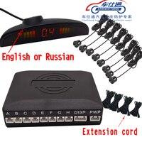 Cheshitong Car Parking Sensor Detector Universal LCD Sensor Parking Assistance Reverse Backup Radar Monitor System 6