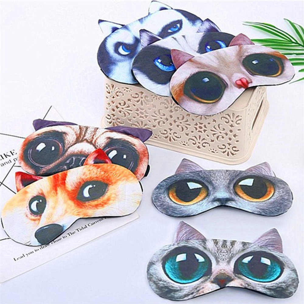 1PC 3D Cartoon Animal Sleeping Eye Mask Soft Cute Padded Sleep Eyepatch Shade Cover Rest Relax Eyeshade Blindfold Eye Care