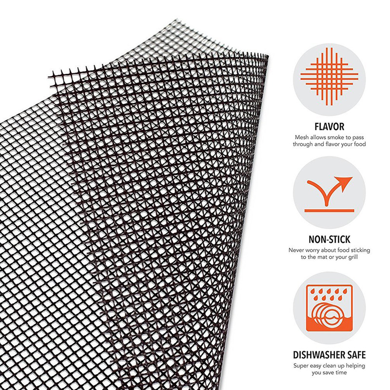 BBQ Grill Mat Reusable Kitchen Cooking Mesh Grill Mat Non-stick Teflon Grilling Mesh Mat Barbecue Liner Outdoor BBQ Accessories (9)
