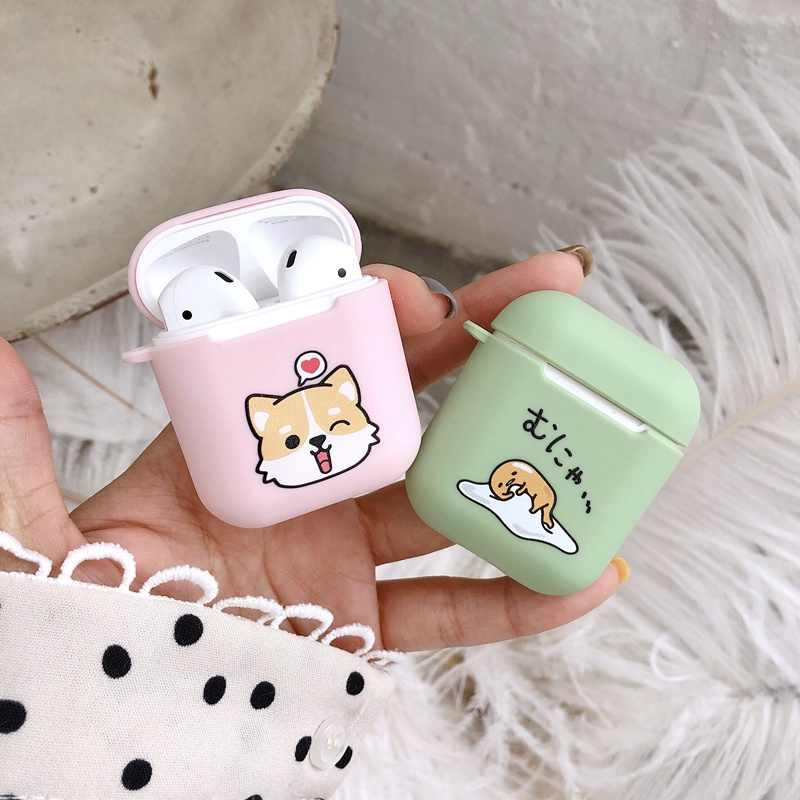 For Airpods Case Wireless Charge Case For Airpods2 Cover Cute Cartoon Anime Silicone TPU Accessories For Airpod Original Coque