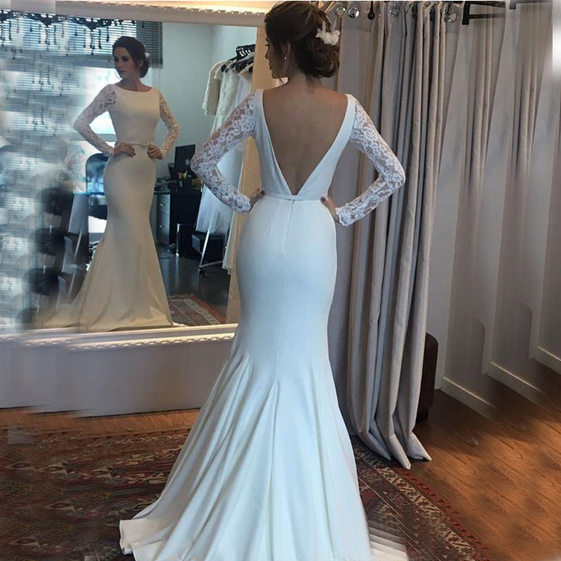2019 Mermaid Wedding Dresses Turkey Lace Custom Made Bridal Dress Wedding Gown vestidos de noiva Plus size  Robe De Mariee