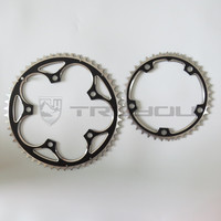 TRUYOU Folding Bike Chain Wheel 53T 39T Double Disc 130 BCD Chainwheel Road Bicycle Chainring Alloy Crankset 2*7/8/9 speed 3/32