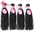 Queen Hair Unprocessed Human Hair Brazilian Virgin Hair Kinky Curly, Brazilian Virgin Curl Hair Extensions 4pcs/lot