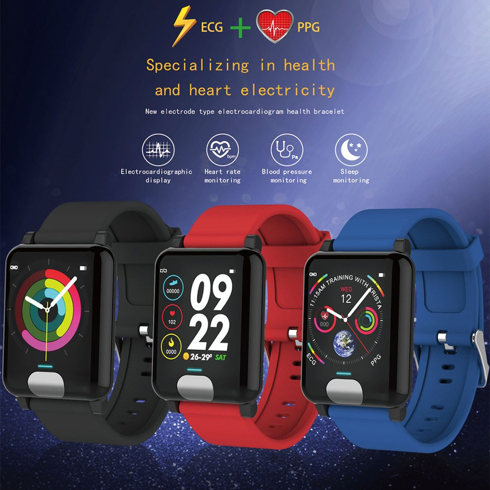 Waterproof E04 Smart Watches ECG PPG Blood Pressure Measurement Fitness Tracker Gps Smartwatch Bracelet