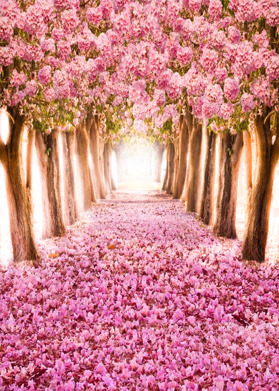 8*12 ft romantic flower road pink photography background vinyl photography backdrops digital cloth for photo taking props S-986 shengyongbao 300cm 200cm vinyl custom photography backdrops brick wall theme photo studio props photography background brw 12