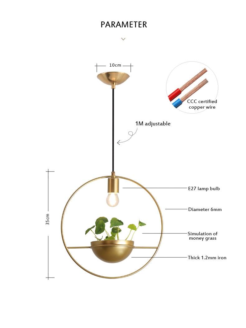 北欧餐厅灯简约创意个性吧台单头床头奶茶店服装店小吊灯植物灯具-tmall_08