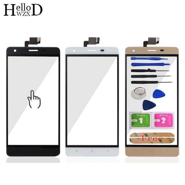 HelloWZXD 5.0'' Touch Glass For Oukitel C5 Pro Touch Screen Glass Digitizer Panel Touchscreen Front Glass Lens Sensor + Adhesive